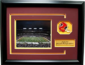 NFL Washington Redskins FedExField Framed Landscape Photo with Team Patch and... by CGI Sports Memories