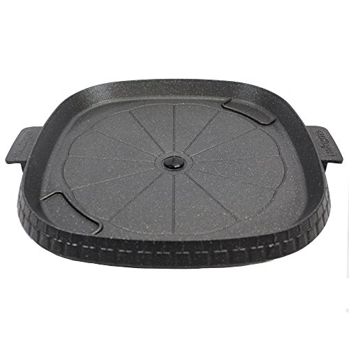 Stove Top Smokeless Grill with Oil Drain Outlet, Non-Stick Marble Coating Surface Indoor BBQ, Korean BBQ, Die Casting Aluminum Stove Top Indoor/Outdoor Grill (100% PTFE and PFOA Free)
