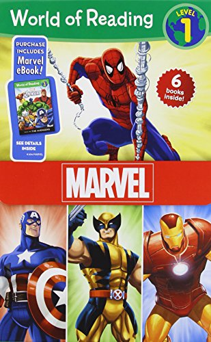 World of Reading Marvel Boxed Set: Level 1: Purchase Include