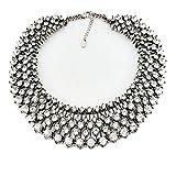 Fun Daisy Grand UK Princess Kate Middleton Hot Silver Rhinestone Fashion Necklace - xl00941-S