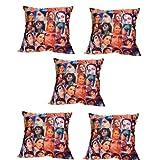 MeSleep Digitally Printed Bombay Collage 5 Piece Cushion Cover Set - Multicolor (16CDBLC-95r-05)