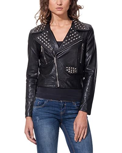 DROLE DE COPINE Chaqueta Biker With Tacks On Lapels