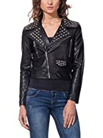 DROLE DE COPINE Chaqueta Biker With Tacks On Lapels (Negro)