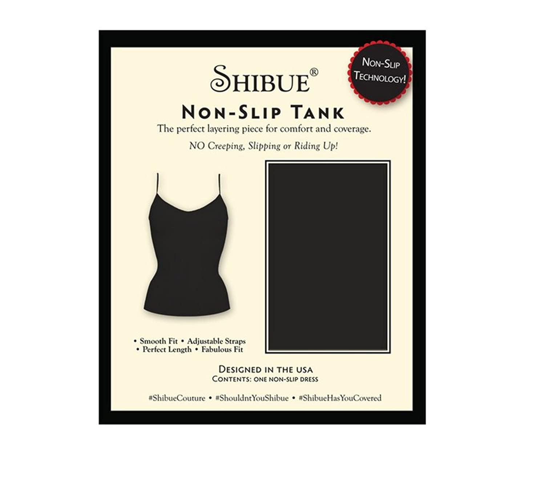 Shibue Couture Non-Slip Tank - Formendes Tank Top - Farbe Schwarz, Größe L