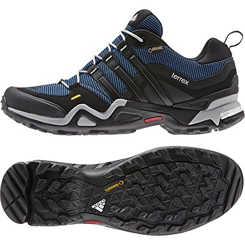 adidas Outdoor Terrex Fast X GTX Hiking Shoe - Men's Blue/Black/Clear Onix 11.5 intersport official new arrival 2017 adidas terrex ax2r men s hiking shoes outdoor sports sneakers