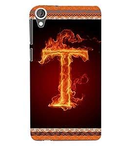 ColourCraft Alphabet T Back Case Cover for HTC DESIRE 820