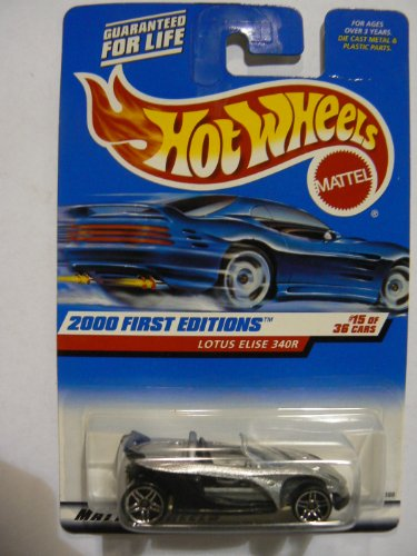 Hot Wheels 2000 First Editions #15 of 36 Lotus Elise 340R on Red Banner Card