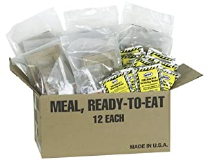 Northstar Survival 12 Pack MRE's with 12 Emergency Water Pouches, Food Storage kit by Northstar Sports