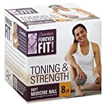 Forever Fit Medicine Ball, Soft, Toning & Strength, 8 lb, 1 ball
