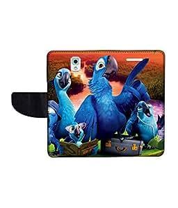 KolorEdge Printed Flip Cover For Samsung Galaxy Note 3 Multicolor - (55KeMlogo09690SamNote3)
