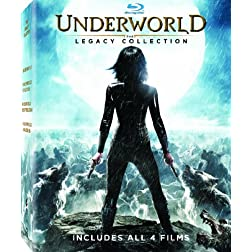 Underworld: The Legacy Collection (Underworld / Underworld Awakening / Underworld Evolution / Underworld: Rise of the Lycans ) [Blu-ray]
