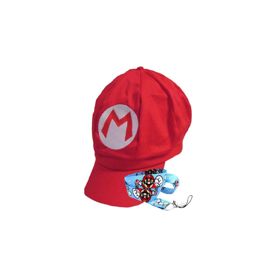 New Super Mario Bros Red Hat and Lanyard