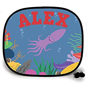 123t ANI-MATES UNDER THE SEA SQUID DESIGN PERSONALISED Sunshade x 1