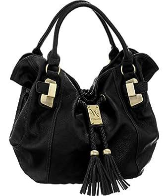 Vitalio Vera Savitha Black Large Hobo Handbags
