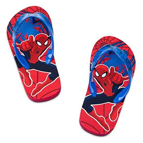 New Movie The Amazing Spiderman Super Hero Adventure Flip Flops For Boys Size 9/10