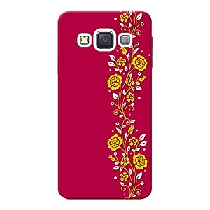 INKIF Blue Pattern Designer Case Printed Mobile Back Cover for Samsung Galaxy A3 Duos (Pink )