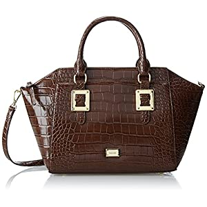 Nine West Epic Scales Satchel,Fudge,One Size