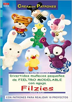 Divertidos Munecos Pequenos de Fieltro Modelable con Aguja (Spanish