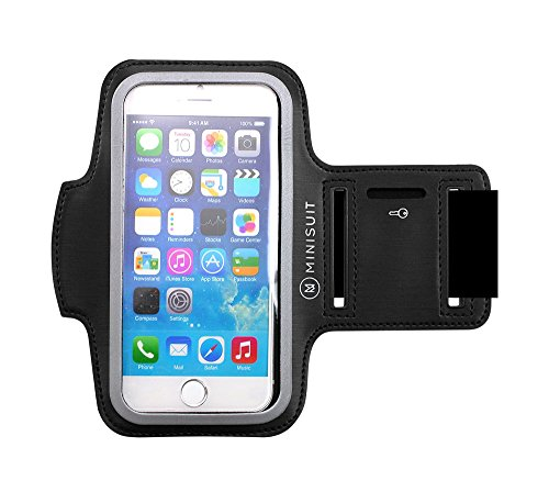 iPhone 6 4.7 アームバンド ネオプレーン素材 防水加工 キーポケット付 アップル Apple アイホン アイフォン ブラックMiniSuit日本正規輸入代理店品