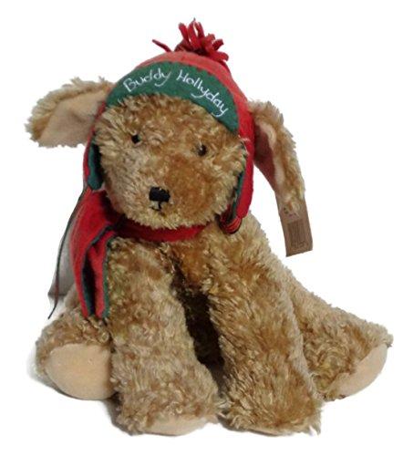 "Buddy Hollyday 10"" Plush Christmas Dog - 1"