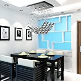 OOFAY LIGHT® LED 4-head modern dining room chandelier, simple LED crystal chandelier and stylish dining room chandelier