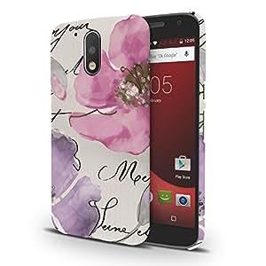 Koveru Designer Printed Protective Snap-On Durable Plastic Back Shell Case Cover for Motorola Moto G4, Motorola Moto G4 Plus - Watercolor Floral Quartet