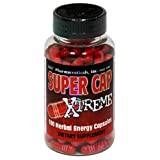 D&E Super Cap Xtreme Herbal Energy Capsules, 100-Count Bottl