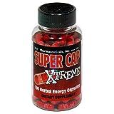 D&E Super Cap Xtreme Herbal Energy Capsules, 100-Count Bottl
