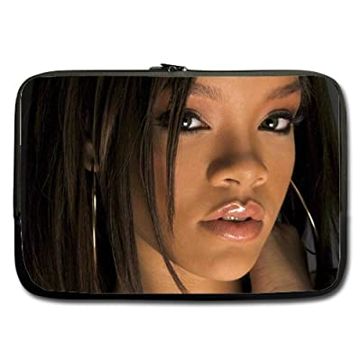 Rihanna Star Custom computer Sleeve Laptop sleeve For Macbook Pro 17inch (Twin Sides)