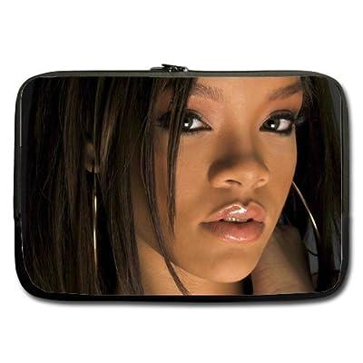 Rihanna Star Custom computer Sleeve Laptop sleeve For Macbook Pro 17inch (Twin Sides)