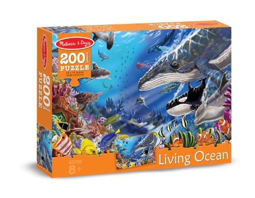 Melissa & Doug Living Ocean Cardboard Jigsaw Puzzle (200-Piece)