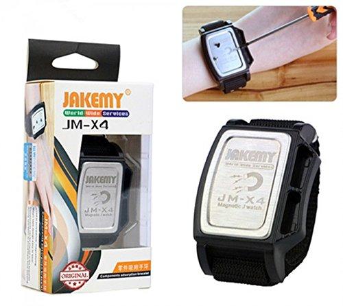 Digi4U ® jakemy potente fascia da polso magnetica braccialetto adsorbimento riparazione, Cacciaviti Head Strap assistenza Handy Tools