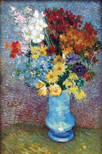 Walls 360 Peel & Stick Wall Decals: Flowers in A Blue Vase by Vincent Van Gogh (24 in x 36 in)