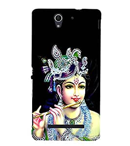 Lord Krishna 3D Hard Polycarbonate Designer Back Case Cover for Sony Xperia C3 Dual D2502 :: Sony Xperia C3 D2533