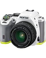 "Pentax K-S2 Appareil photo reflex numérique 3"" (7,62 cm) 20 Mpix Wi-Fi HDMI USB Blanc/Anis + Objectif DAL 18-50 mm WR"