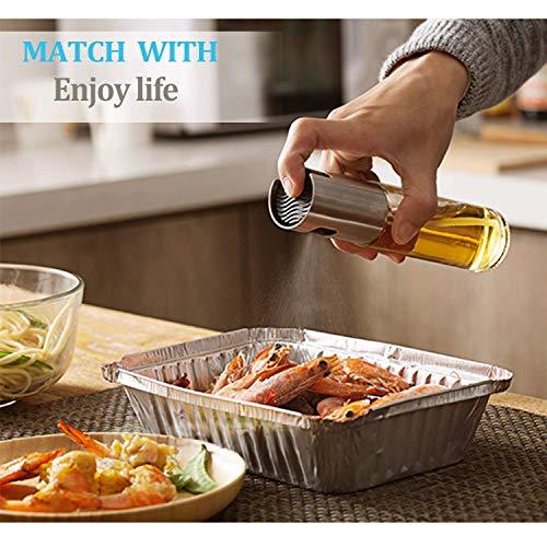 Emoly Cooking Olive Oil Sprayer Refillable Oil and Vinegar Dispenser Bottle for BBQ, Making Salad, Cooking, Baking, Roasting, Grillingï¼?with Basting Brush,Bottle Brush and Oil Funnel 2020
