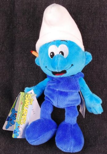 Picture of Jakks Pacific Smurfs: Handy Smurf Bean Bag Plush Figure (B002N2K73I) (Jakks Pacific Action Figures)