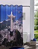 Lushomes Printed Christ the Redeemer Shower Curtain with Eyelets