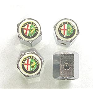 Alfa Romeo Anti-theft Car Wheel Tire Valve Stem Caps