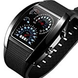 New Cool RPM Turbo Flash Digital LED Sports Watch Gift Car Meter Dial for Men USA Seller (Black)