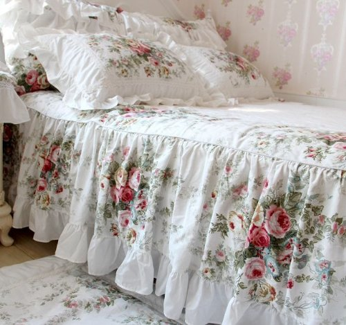 FADFAY Home Textile Vintage Floral Rose Bedding Set
