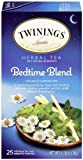 Twinings, Herbal Tea, Bedtime Blend, Caffeine Free, 25 Tea Bags, 1.28 oz (36 g)