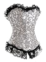 Pinkyee Women's Fashion Jacquard Lace Palace Corset