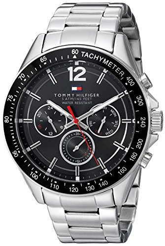 Tommy Hilfiger Men's 1791104 Sophisticated Sport Analog Display Quartz Silver Watch - 51NRmzA6gbL - Tommy Hilfiger Men's 1791104 Sophisticated Sport Analog Display Quartz Silver Watch