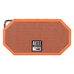 Altec Lansing IMW257-ORG Mini H2O Waterproof, Sandproof, Snowproof and Shockproof Bluetooth Speaker, Orange