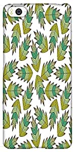 Snoogg A Seamless Leaf Pattern Solid Snap On - Back Cover All Around Protecti...