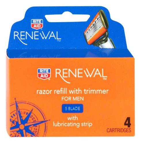 Rite Aid M5 Magnum Razor/Trimmer Cartridges, 5 Blade, 4 ct (Rite Aid 5 Blade Razor compare prices)