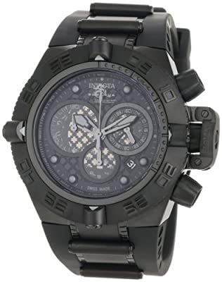 Invicta Men's 0520 Subaqua Noma IV Collection Chronograph Midsize Black Polyurethane Watch