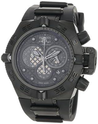 Invicta Men's 0520 Subaqua Noma IV Collection Chronograph Midsize Black Polyurethane Watch by Invicta
