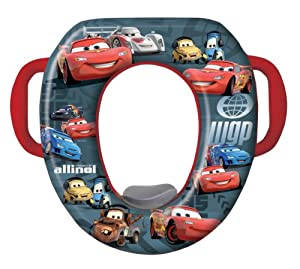 Disney Cars Soft Potty Seat - Black/Red (Discontinued by Manufacturer)